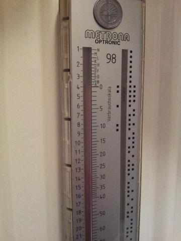 Hiezungsmesser - (Heizung, Temperatur, ablesen)