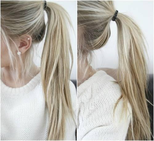 Hellblonde Strähnchen Bei Naturblonden Haaren Haare Frisur Blond