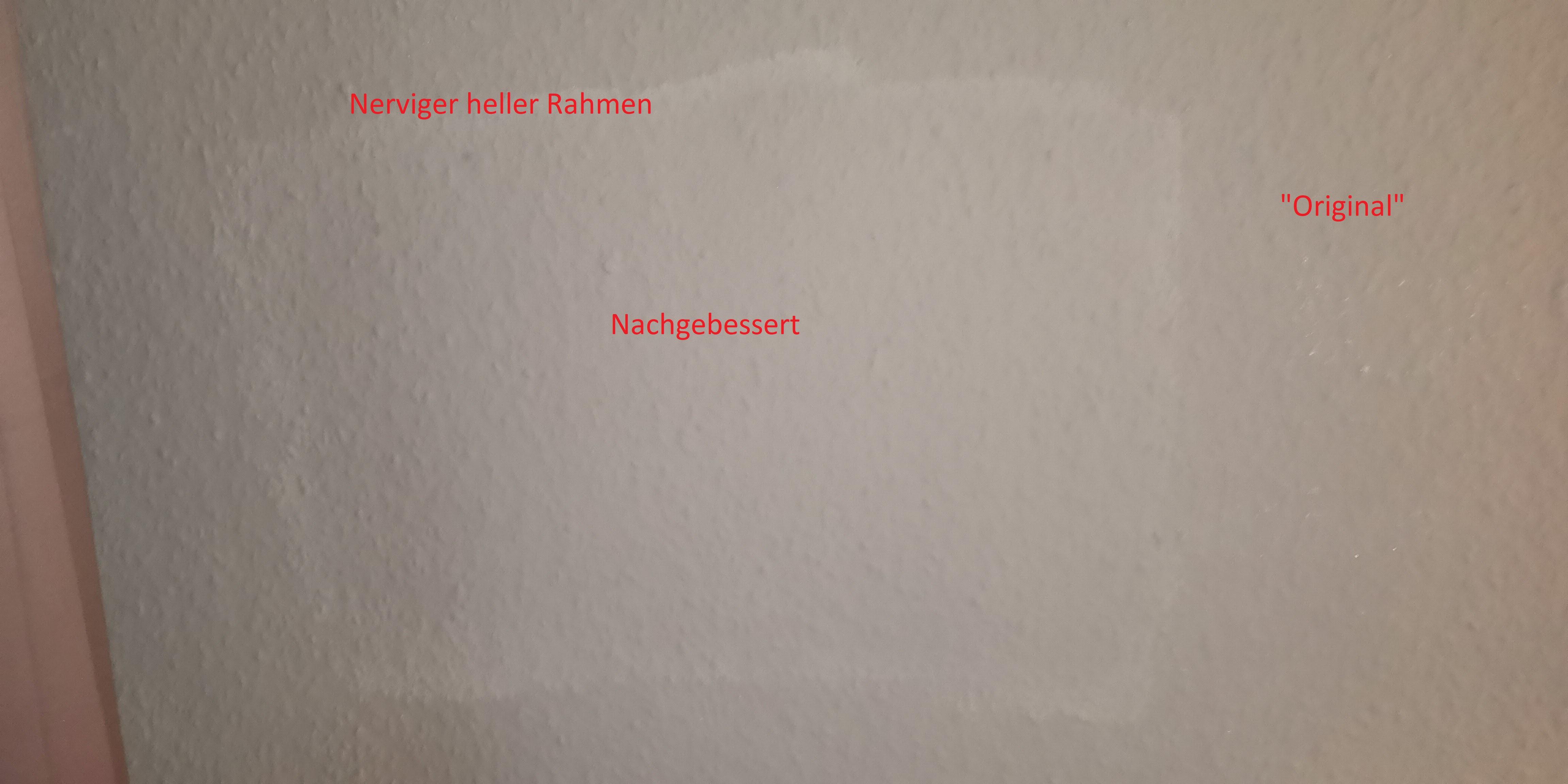 Heller Rahmen beim nachbessern dunkler Wandfarbe? (Maler, Pinsel ...