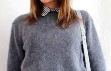 Hemdbluse unter Pullover? (Mode, Kleidung, Style)