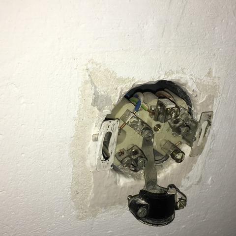 Anschluss an der wand - (Elektrik, Anschluss, Backofen)