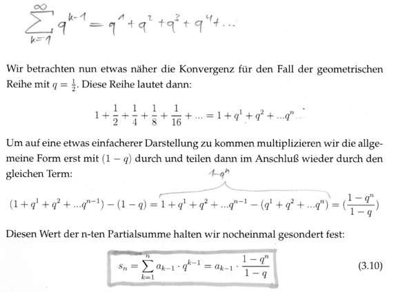 Herleitung der Formel für die geometrische Reihe - kann mir sie jemand erklären?