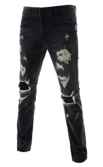 herren jeans used look wo stil grunge. Black Bedroom Furniture Sets. Home Design Ideas