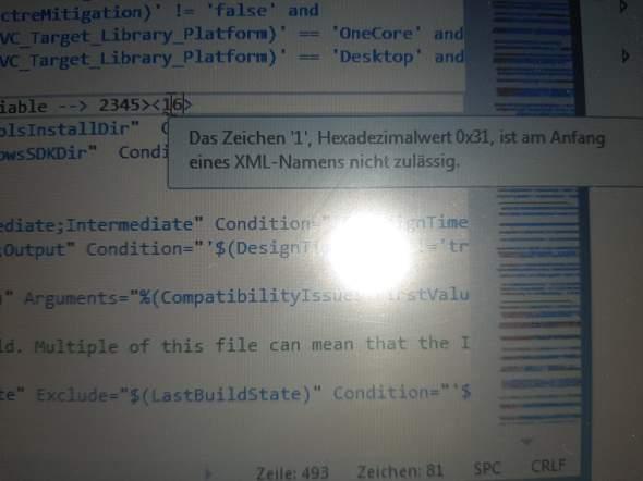 Hexadezimalwert Anfangswertproblem eines XML Namens  (Informatik)?