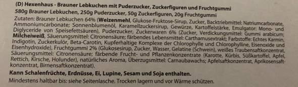 HexenHaus von Weiss Gelatine?
