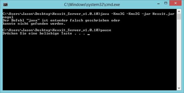 Launch.bat Fehler - (Minecraft, Server, Java)