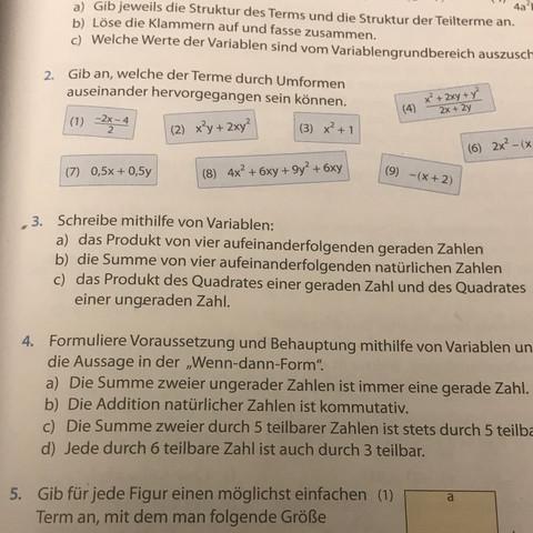 Aufgabe 3 a-c  - (Mathe, Klasse8)
