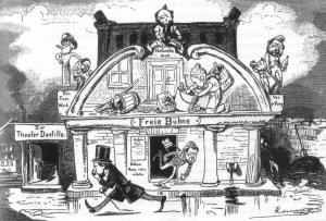 """""""die Freie Bühne"""" von Ernst Retemeyer - (Schule, deutsch, Karikatur)"""