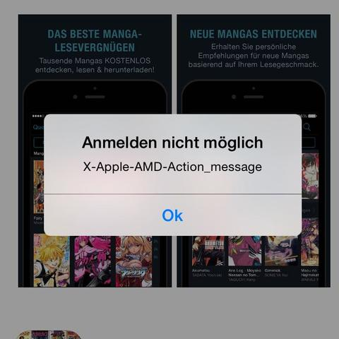 Fehlermeldung  - (Handy, Apple)