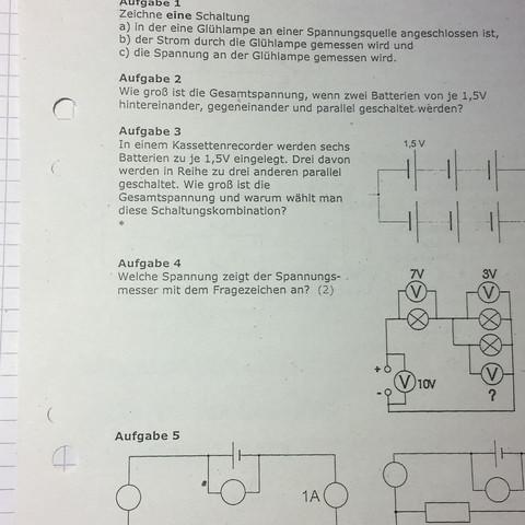Aufgabe 2 habe ich schon - (Physik, Spannung, Widerstand)