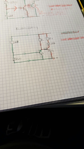 Dunkelschaltung - (Technik, Elektronik, Technische Zeichnung)