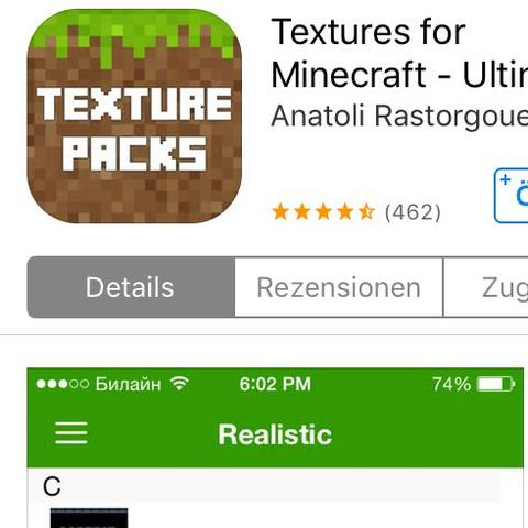 So sieht die App aus - (MINECRAFT PE, texture-pack)