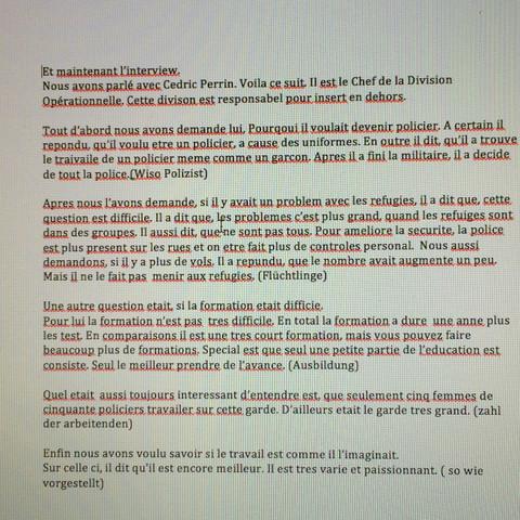 Text sollte lesbar sein - (Referat, franzoesisch)