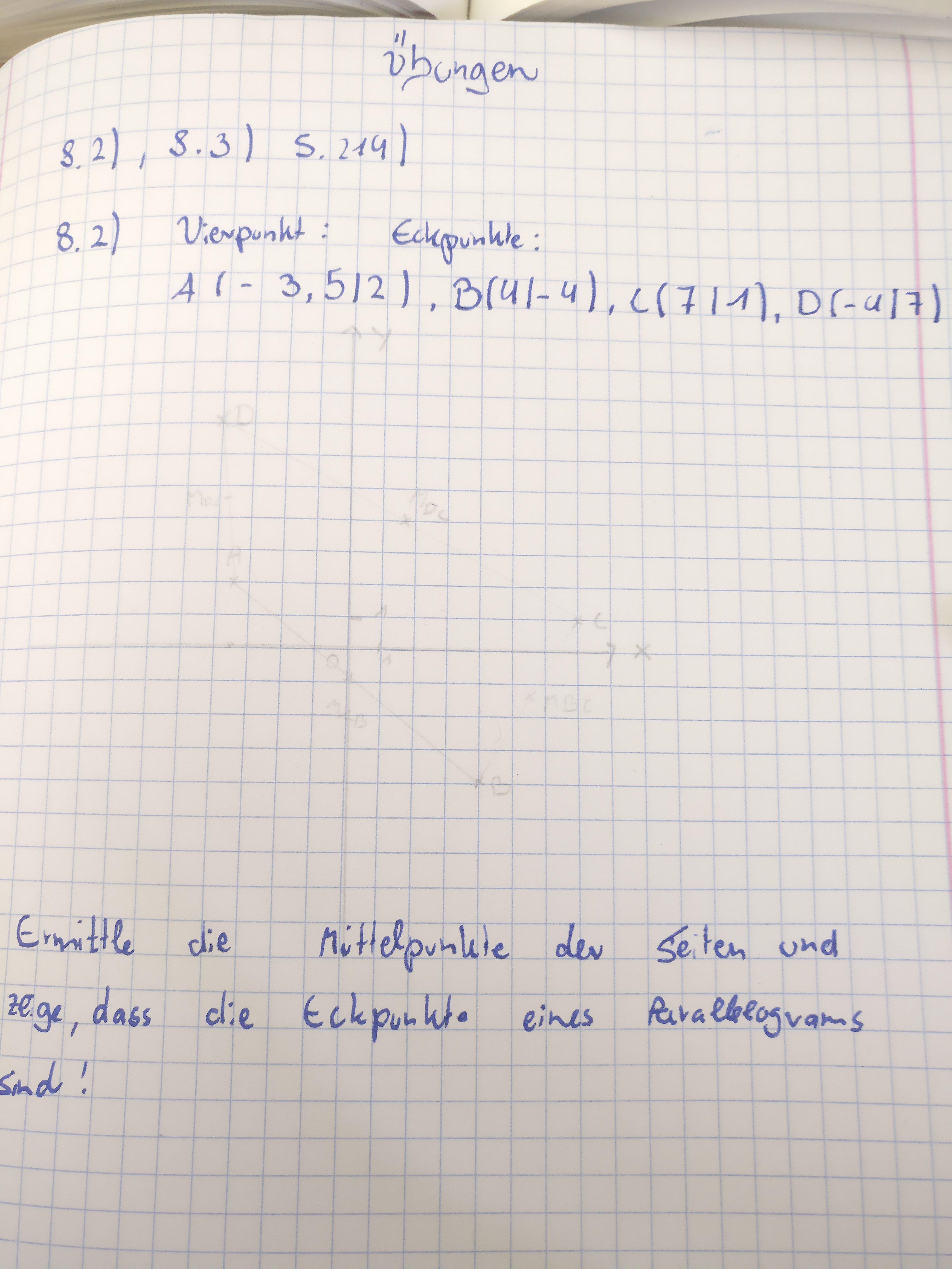 Hife! Vektoren: wie berechnet man den Mittelpunkt einer Seite ...