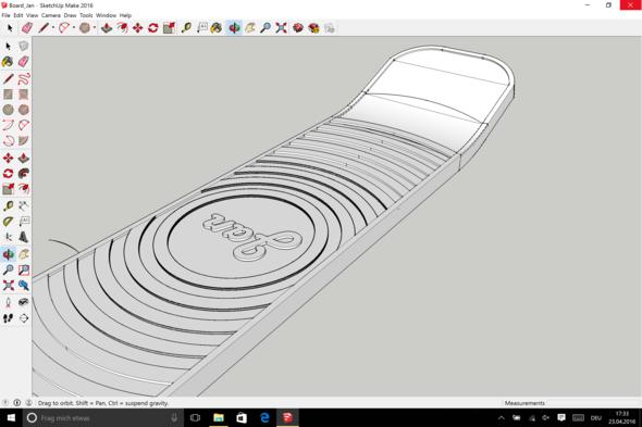 Das Bild von meinen selber gezeichneten Skateboard - (Computer, zeichnen, 3-D)
