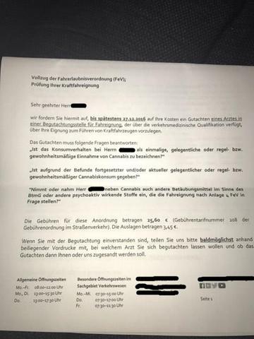 Der Brief des Landratsamtes  - (Führerschein, Drogen)