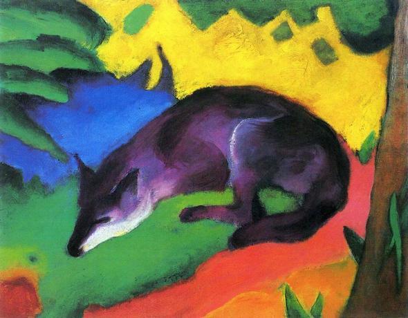 """Franz Marc """"Der (blaue) Fuchs"""" - (Schule, Kunst, Interpretation)"""