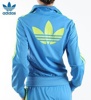 adidas firebrid jacke blau/gelb - (Mode, Kleidung, Farbe)