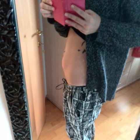 so sieht mein Bauch momentan aus