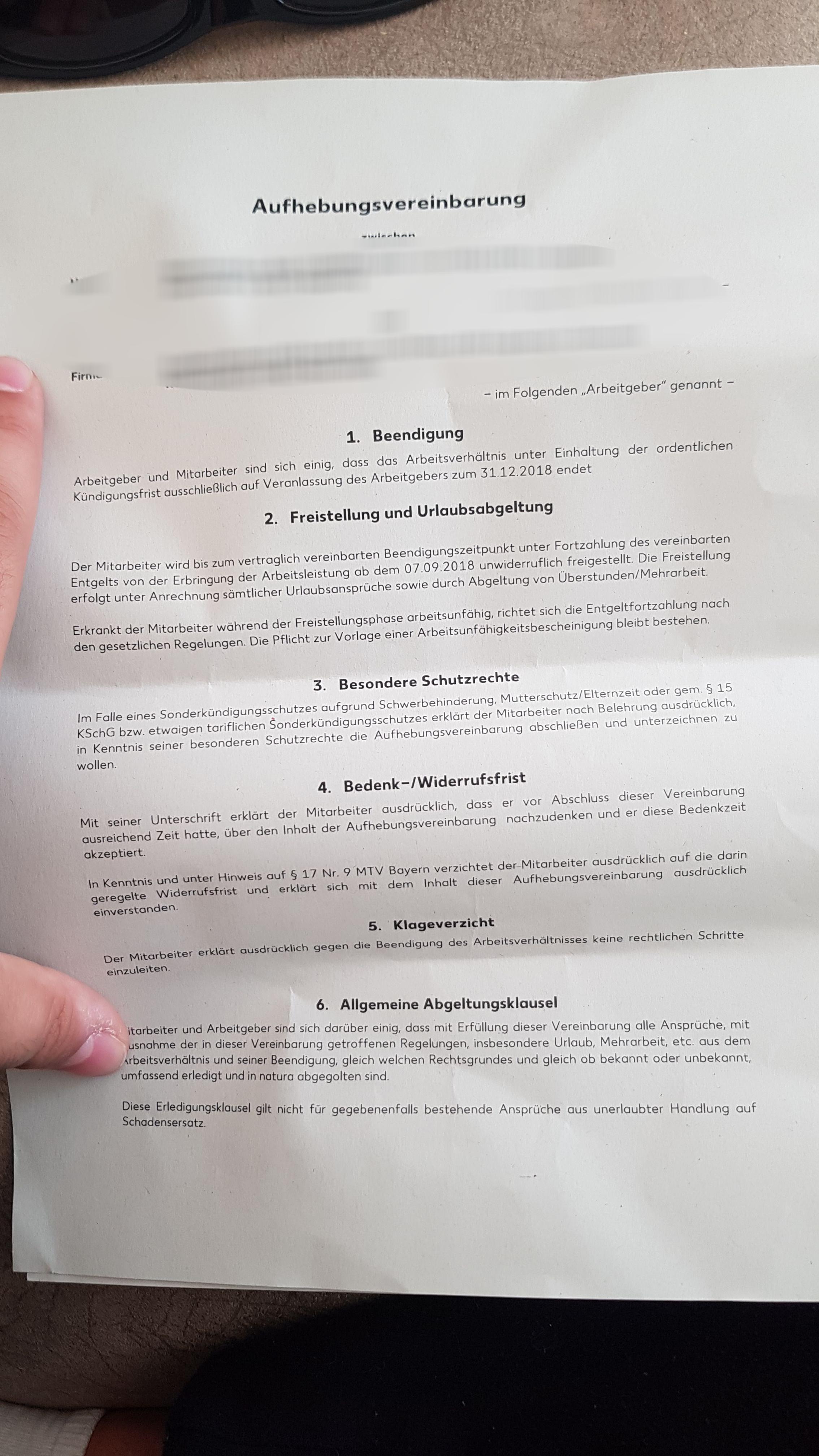 Hilfe Bei Aufhebungsvereinbarung Unterschreiben Oder Nicht Recht