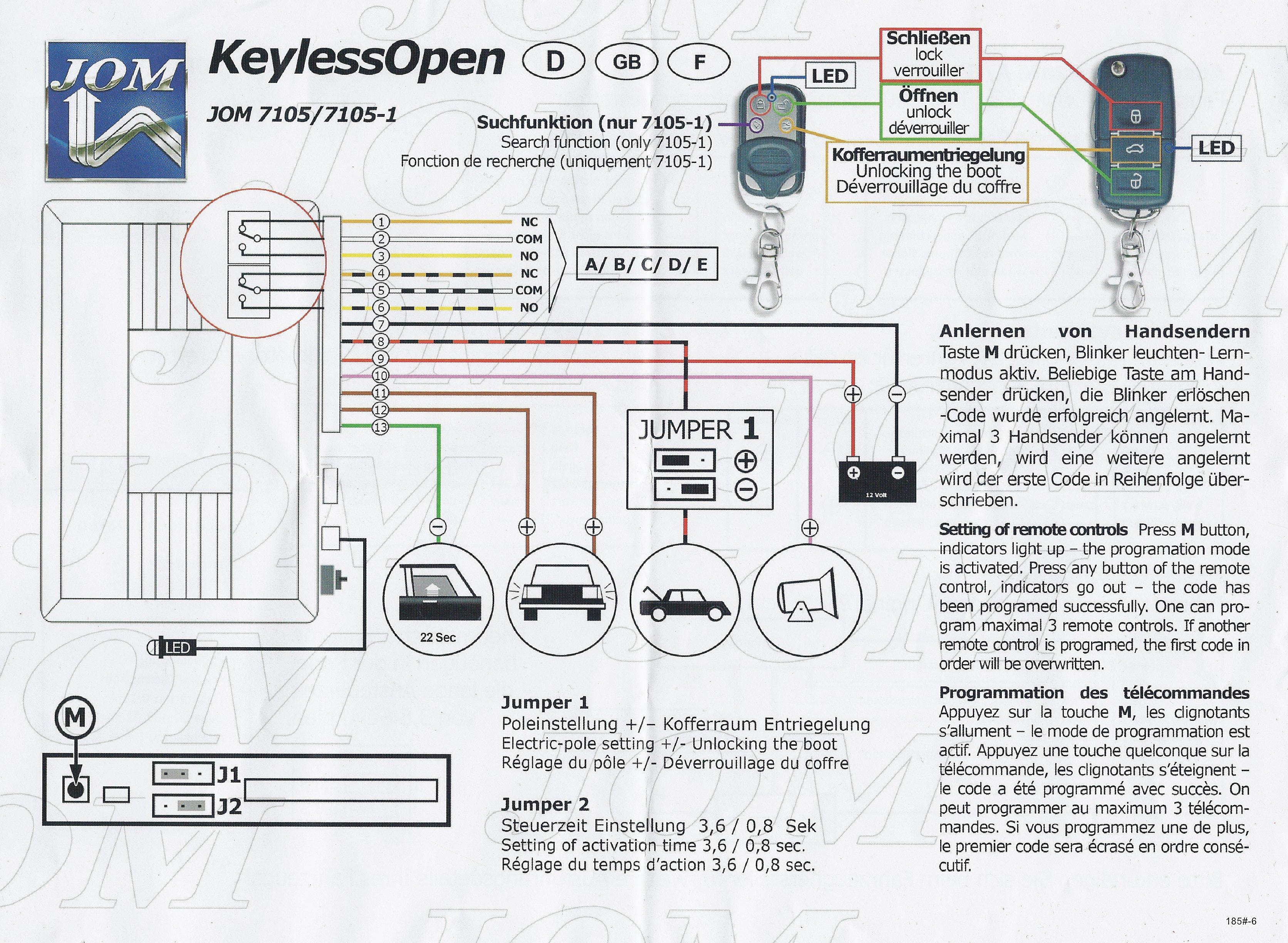 Hilfe bei Blinker-Ansteuerung von Jom Keyless Open Kit (Ford Fiesta ...
