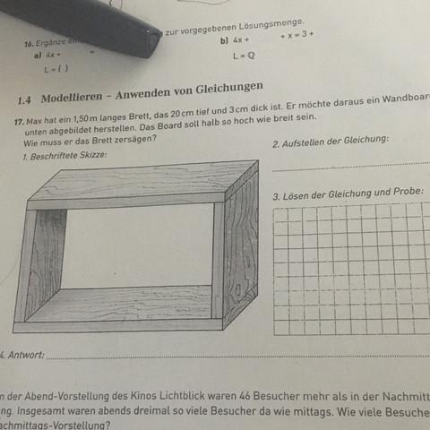 Das ist die Aufgabe  - (Mathe, Mathematik)