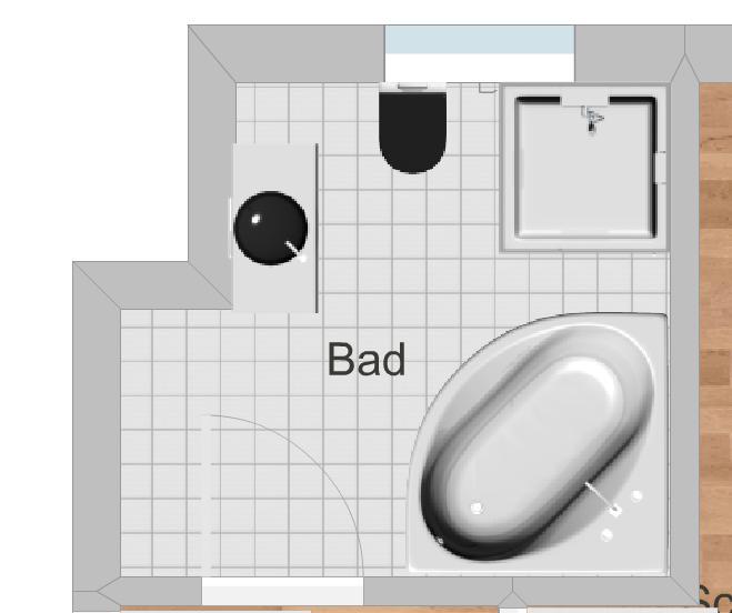 Hilfe bei Einrichtung Grundriss Badezimmer (einrichten)
