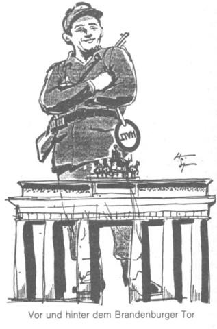 Neues Deutschland, 23.8.1961, Karikatur - (Geschichte, Karikatur, Deutung)