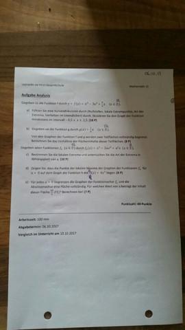 Hoffe man erkennt es einigermaßen :) - (Schule, Mathematik, Abitur)
