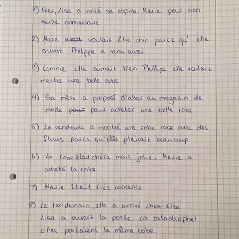 Das ist der Text  - (französisch, Text schreiben)