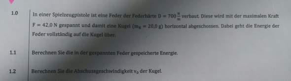 Hilfe bei Physik Aufgabe?