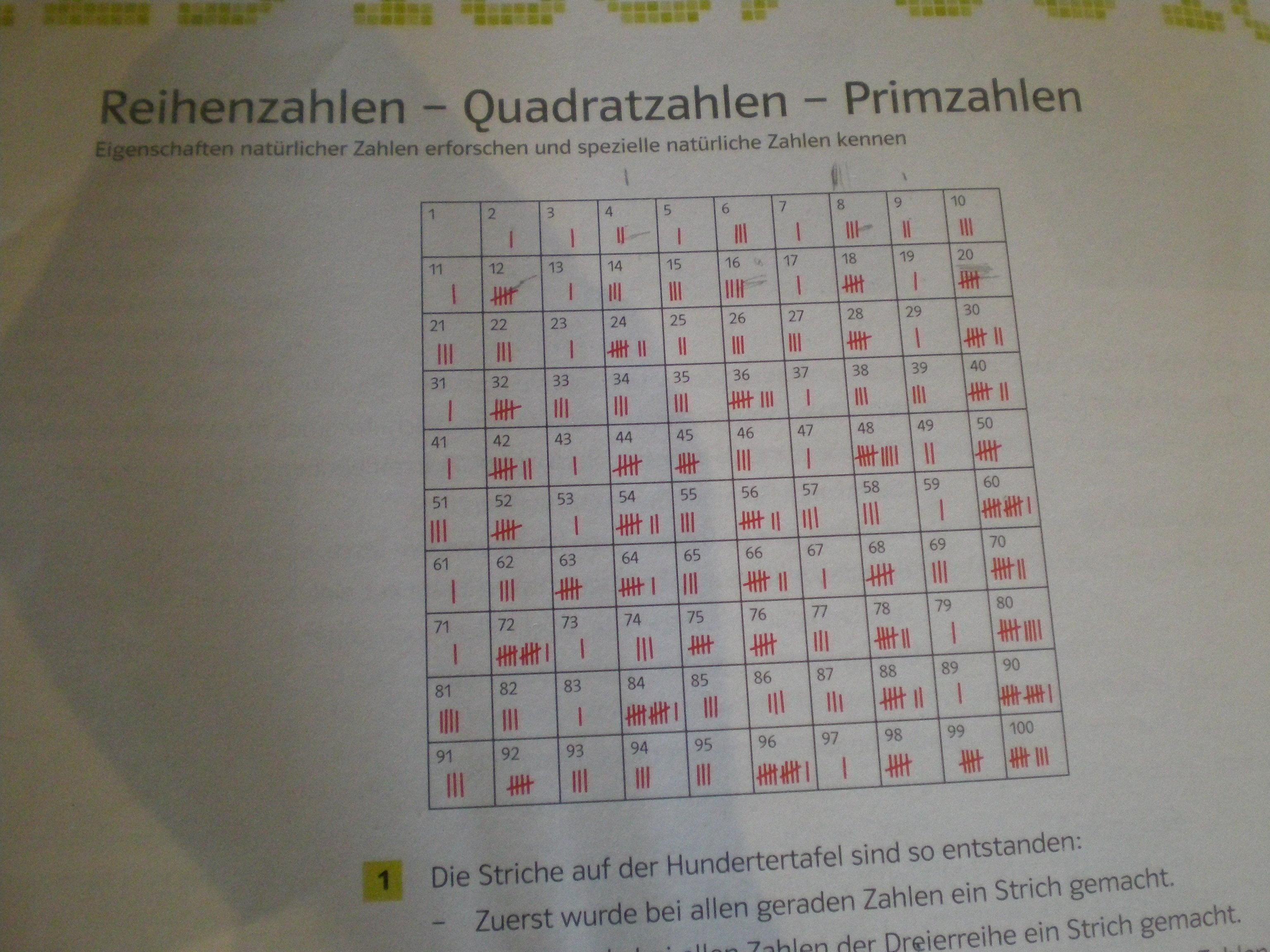 Hilfe bei Reihenzahlen, Quadratzahlen und Primzahlen(Kollegin ...