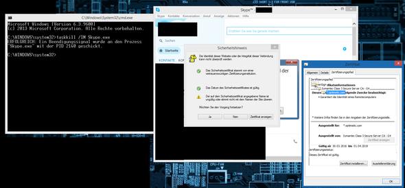 Hier ein Screenshot von dem ganzen - (PC, Internet, Skype)