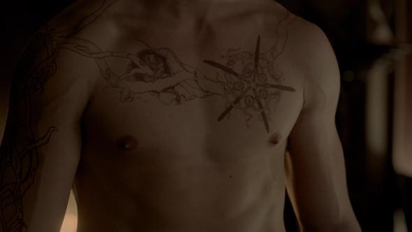 Jeremy Gilbert Hunter Tattoo - (Tattoo, TheVampireDiaries)