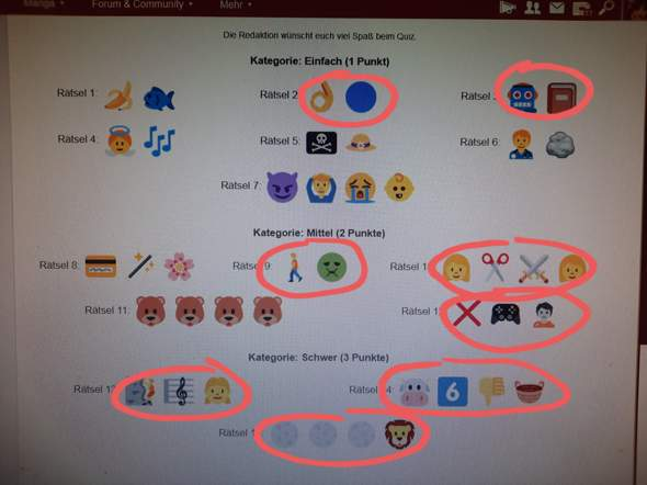 Hilfe beim Anime Emoji raten?