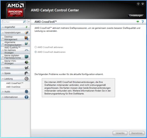 Catalyst Control Center -> CrossFireX Option - (Computer, Grafikkarte, Crossfire)