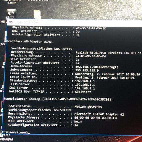 Ipconfig /all  - (PC, Windows, Windows 10)