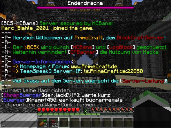 """der satz """"teleportiere zu warp punkt farmen"""" ist auf deutsch! - (Minecraft, Server, Plugin)"""