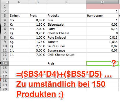 Beispiel – Excel - (Excel, Formel, Kalkulation)