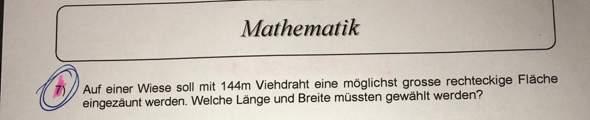 Hilfe gesucht Mathematik?