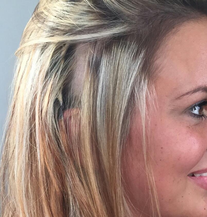 Haare farben uber blondierung