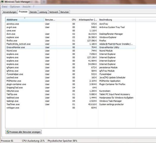 mein task manager - (PC, Virus, Taskmanager)