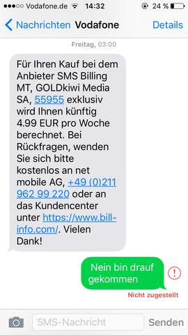 Hier die SMS von Vodafone!! - (abo-kuendigen, Hilfe abo abgeschlossen)