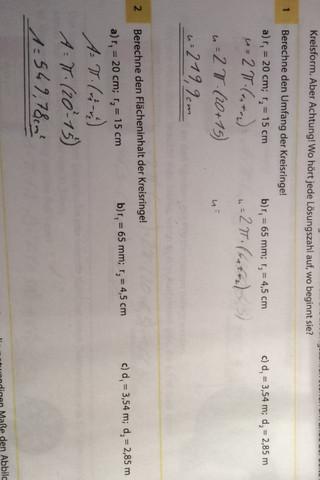 Mathe - (Mathe, Kreisring)