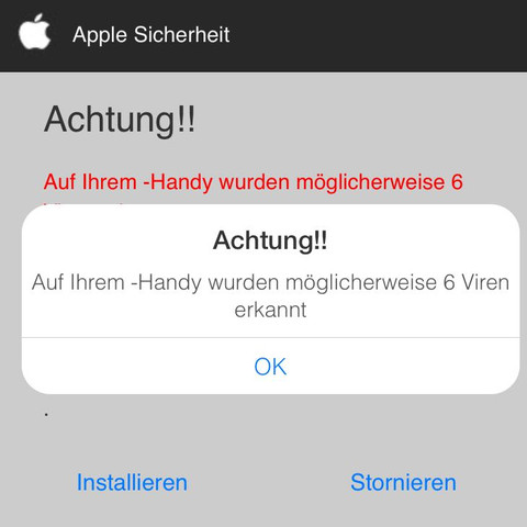 Meldung  - (Handy, Technik, iPhone)