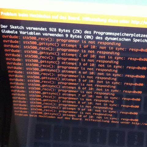 Fehlercode - (arduino, fehlercode, Arduino Uno)