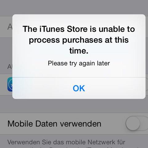 Diese Meldung bekomme ich.   - (Handy, iPhone, iTunes)
