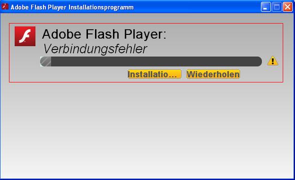 kann flashplayer nicht installieren