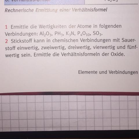 Hilfe in Chemie (Wertigkeit)? (Schule, Gymnasium, Hausaufgaben)