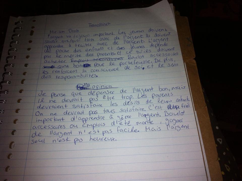 Briefe Französisch Beispiel : Hilfe in französisch sehr dringend schule franzoesisch